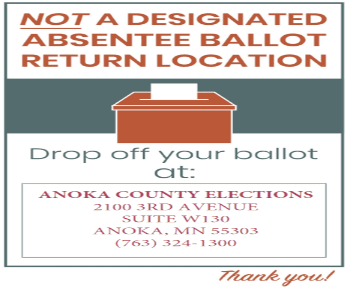 City Hall Not a Drop off Location for Ballots