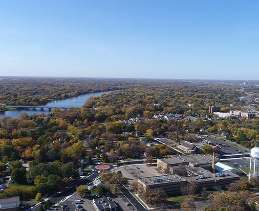 Aerial View of Anoka