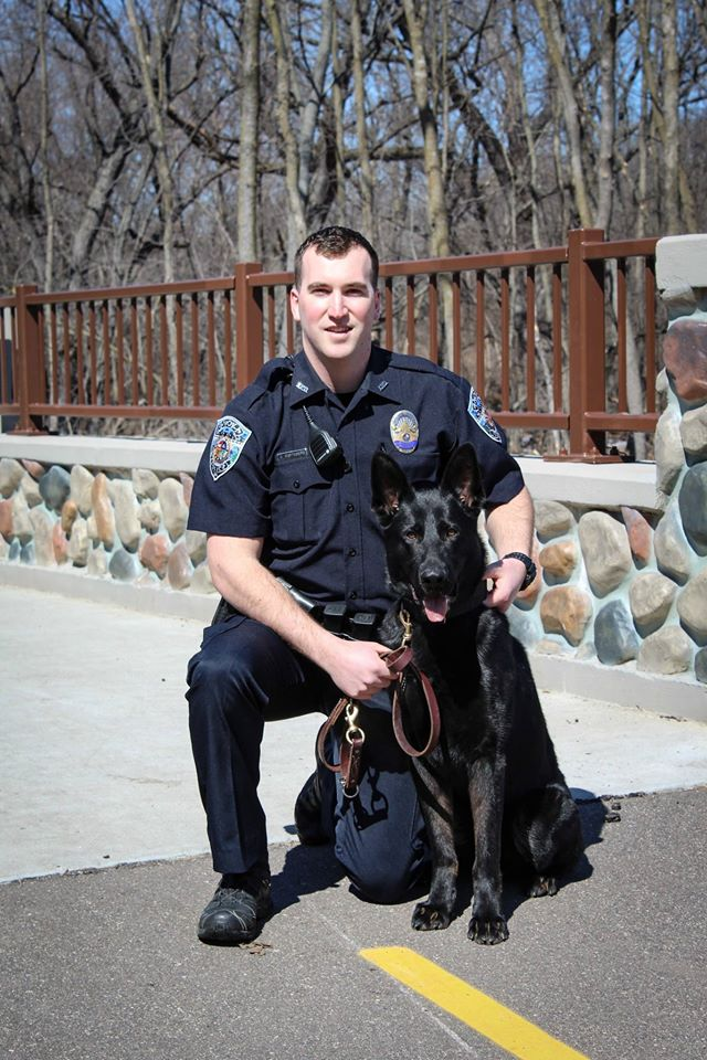 Officer Jake Sorteberg and K9 Bravo